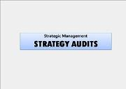 STRATEGY AUDITS Powerpoint Presentation