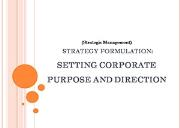 Strategy Formulation Vision and Mission Powerpoint Presentation