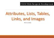 Attributes Lists Tables Links and Images Powerpoint Presentation