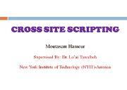 Cross Site Scripting OR XSS Powerpoint Presentation
