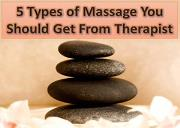 5 Types of Massage You Should Get From Therapist Powerpoint Presentation