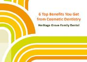 6 Top Benefits You Get from Cosmetic Dentistry Powerpoint Presentation
