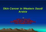 Retrospective study of skin cancers in Taif region Powerpoint Presentation