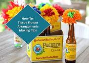 How To Make Tissue Flower Arrangements Powerpoint Presentation