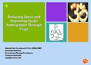 Reducing Stress Through Yoga Powerpoint Presentation