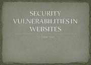 Website Vulnerabilities Powerpoint Presentation
