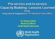 Integrated Management of Childhood Illness Powerpoint Presentation