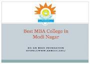 Best MBA College in Modi Nagar Powerpoint Presentation