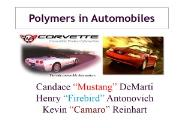 Polymers in Automobiles UB Engineering Powerpoint Presentation
