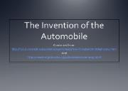 The Invention of the Automobile Powerpoint Presentation