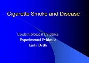 Cigarette Smoke And Disease Powerpoint Presentation