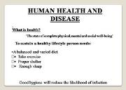 Human Health And Disease Powerpoint Presentation