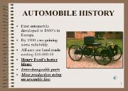 AUTOMOBILE HISTORY Powerpoint Presentation