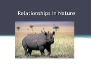 Relationships In Nature Powerpoint Presentation