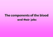 The Components Of The Blood Powerpoint Presentation