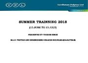 SUMMER INTERNSHIP Powerpoint Presentation