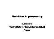 Nutrition in pregnancy Powerpoint Presentation