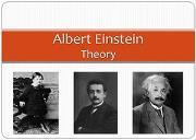 Albert Einstein Theory Powerpoint Presentation