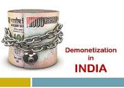 Demonetization in India Powerpoint Presentation
