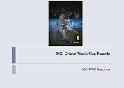 ICC Cricket World Cup Records Powerpoint Presentation