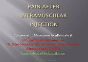 Pain and IM injection Powerpoint Presentation