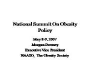 National Summit On Obesity Policy Powerpoint Presentation