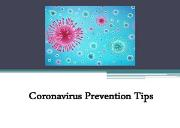 Coronavirus Prevention Tips Powerpoint Presentation