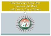 Modi Yoga Asanas Powerpoint Presentation