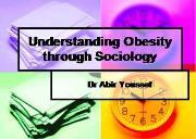 Understanding Obesity through Sociology Powerpoint Presentation
