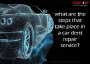 What are the steps that take place in a car dent repair service Powerpoint Presentation