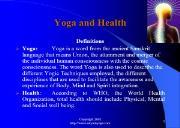Yoga and Health Powerpoint Presentation
