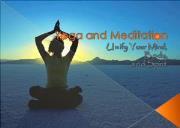Yoga and Meditation Powerpoint Presentation