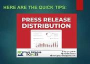 An Absolutely Successful Press Release Distribution Format Tips Powerpoint Presentation