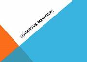 Leaders And managers Powerpoint Presentation