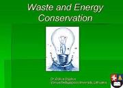 Waste and Energy Powerpoint Presentation