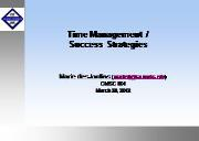 About Time management Powerpoint Presentation