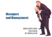 About Managers and Management Powerpoint Presentation