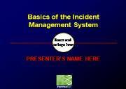 Incident Management System(CDC) Powerpoint Presentation