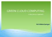 GREEN CLOUD COMPUTING Powerpoint Presentation