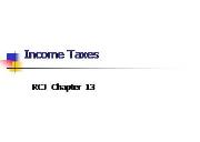 Income Taxes Powerpoint Presentation