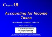 Accounting for Income Taxe Powerpoint Presentation