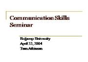 Verbal Communication Skills Powerpoint Presentation