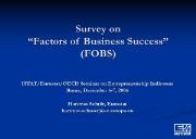 Factors of Business Success Powerpoint Presentation
