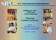 Small Business Administration (Internal Revenue Service) Powerpoint Presentation