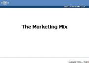 The Marketing Mix Powerpoint Presentation