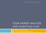 Your Market Analysis and Marketing Plan Powerpoint Presentation