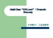 Unit One Of Love Powerpoint Presentation