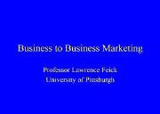 Business to Business Marketing Tips Powerpoint Presentation