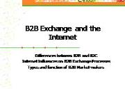B2B Exchanges and the Internet Powerpoint Presentation