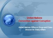 United Nations Convention against Corruption Powerpoint Presentation
